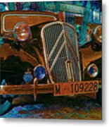 Happy Old Citroen Metal Print