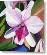 Happy Orchid Metal Print