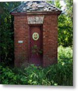 Happy Outhouse Metal Print
