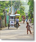 Happy Philippine Street Scene Metal Print by James BO  Insogna