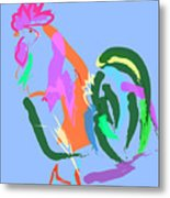 Happy Rooster Metal Print
