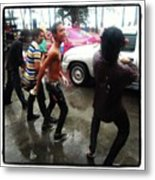 Happy Songkran. The Water Splashing Metal Print