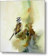 Happy Sparrow Metal Print