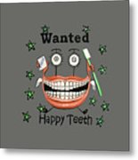 Happy Teeth T-shirt Metal Print