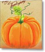 Happy Thanksgiving Greeting Card Metal Print