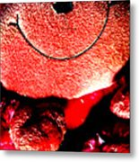 Happy To Be Red Metal Print