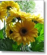 Happy To Be Yellow  Metal Print
