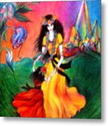 Happy To Dance. Ameynra And Mother-queen Metal Print