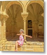 Happy Tourist Visits Coimbra Metal Print