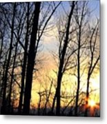 Happy Trails Sunset Metal Print