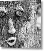 Happy Tree In Black And White Metal Print