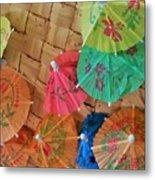 Happy Umbrellas Metal Print