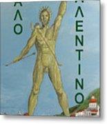 Happy Valentine Greek Colossus Metal Print