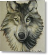 Happy Wolf Metal Print