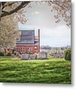 Harbaugh Church In The Spring Metal Print