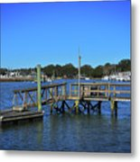 Harbor At Mcclellanville, Sc Metal Print