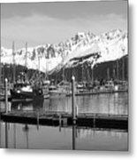 Harbor Boats Metal Print