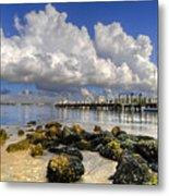 Harbor Clouds At Boynton Beach Inlet Metal Print