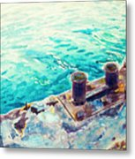 Harbor Jetty Metal Print