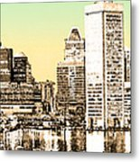Harbor Lights From Federal Hill - Drawing Fx Metal Print