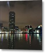 Harbor Lights In Baltimore Metal Print