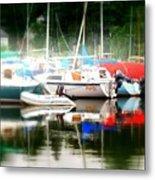 Harbor Masts Metal Print