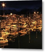 Harbor Night Metal Print