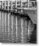 Harbor Reflections Metal Print