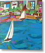 Harbor Sails Metal Print