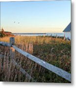 Harbor Shed Metal Print