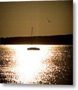 Harbor Silhouette Metal Print