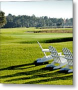 Harbor Town At Seapines 18th Hole Metal Print by Dustin K Ryan
