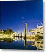 Harbor Town Yacht Basin Light House Hilton Head South Carolina Metal Print