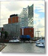 Harbor View With Elbphilharmonie Metal Print