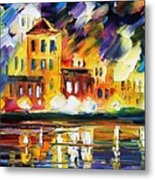 Harbor's Flames Metal Print