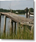 Harborton Dock Metal Print