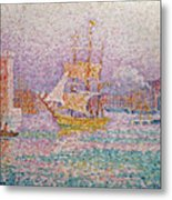 Harbour At Marseilles Metal Print