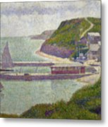 Harbour At Port En Bessin At High Tide Metal Print