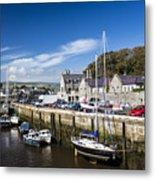 Harbour At Port Erin Metal Print