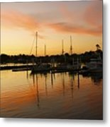 Harbour Sun Set Metal Print