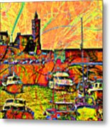 Harbour View Porthleven Cornwall Metal Print
