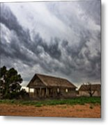 Hard Days - Abandoned Home On West Texas Plains Metal Print