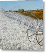 Hard Land Farming Metal Print
