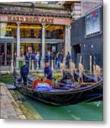 Hard Rock Cafe Venice Gondolas_dsc1294_02282017 Metal Print