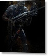 Hard Rock Mining Man Metal Print