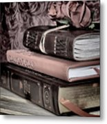 Hardcover Books Metal Print