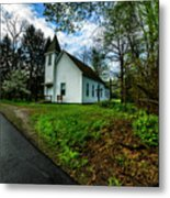 Hardtop And Church Metal Print