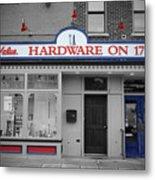 Hardware On Seventeenth Metal Print