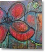 Hare Hare Poppies Metal Print