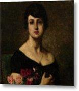 Harlamoff, Alexei 1840-1925 Female Portrait Metal Print